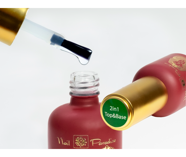 2 in 1 | 801120 | No wipe top coat - Without sticky layer | Nail & Eyelash Paradise