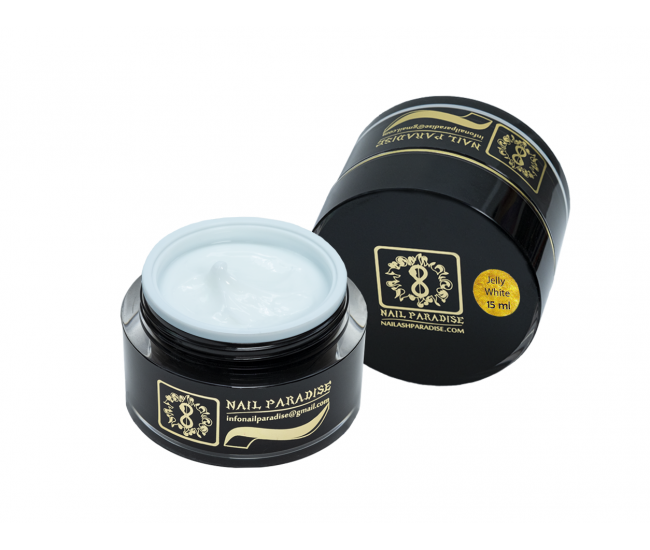 Jelly White Builder Gel 15ml. - Nail & Eyelash Paradise