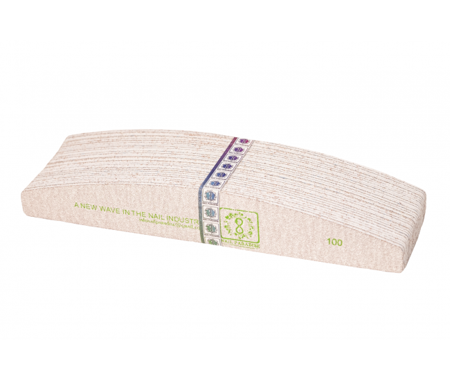 REFILL PADS FOR HALF MOON NAIL FILE SOFT BASED 100 GRIT  30 pcs- Nail & Eyelash Paradise