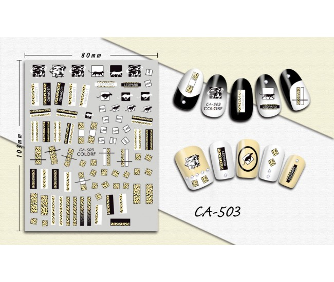 3D Nail Stickers | Trend stickers| CA-503