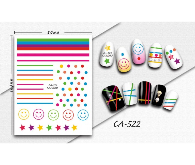 3D Nail Stickers | Trend stickers| CA-522