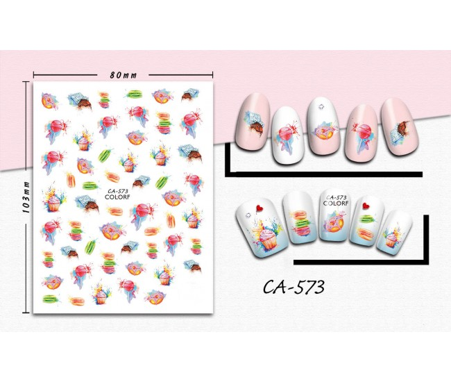 3D Nail Stickers | Trend stickers| CA-573