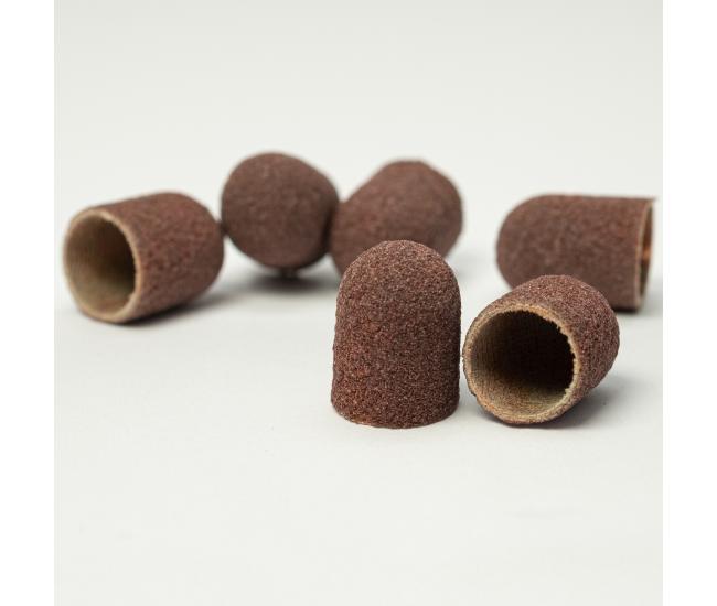 Pedicure Sanding Caps Brown 10pcs #M Grit