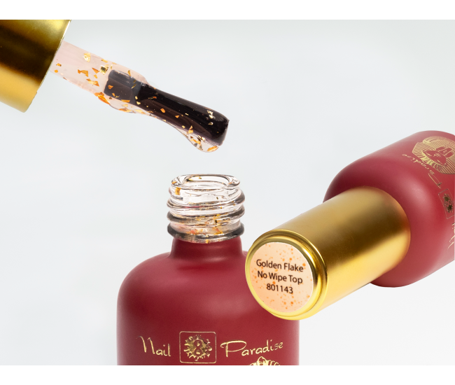 Top Coat - Golden Flake no wipe 10ml