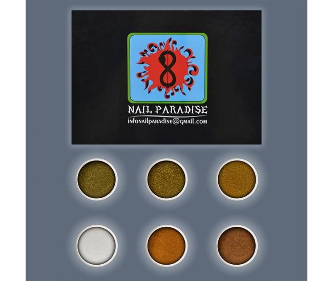GOLD STAR Glitter Collection 8 - Nail & Eyelash Paradise