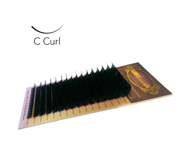 Individual Lashes C-curl 0,10/8mm - Nail & Eyelash Paradise